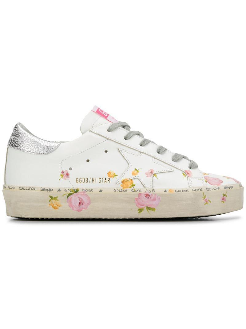 6ff5adb614d Lyst - Golden Goose Deluxe Brand Hi Star Sneakers in White - Save 28%