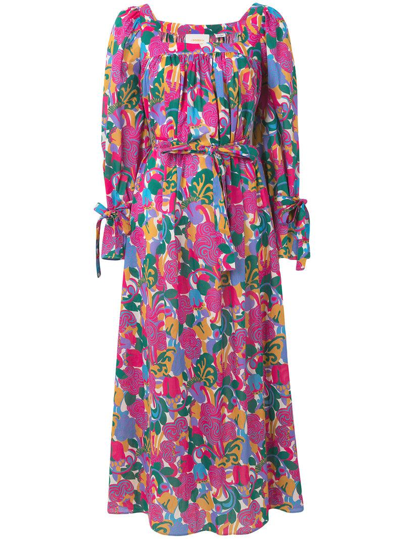 long sleeve printed dress - Pink & Purple La DoubleJ Really Cheap Online Purchase Cheap Price Cost Sale Online Best Sale Cheap Price B1owuGv