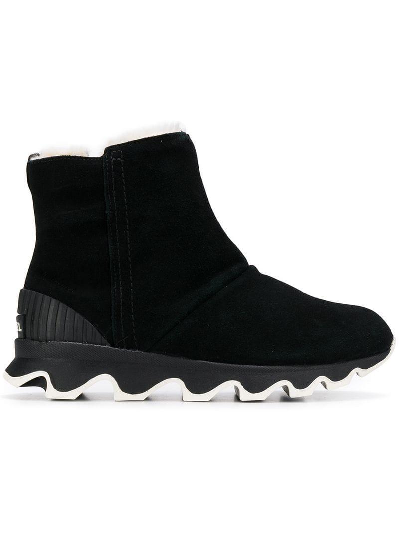 412017010321 Sorel Ridged Platform Boots in Black - Lyst