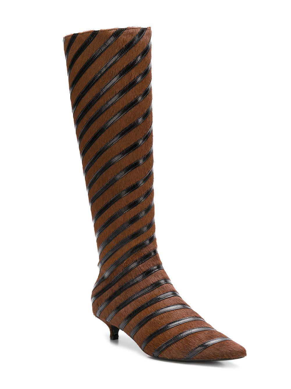 free shipping great deals Sonia Rykiel striped kitten heel boots cheap sale best sale footlocker finishline online Rw4iu4x