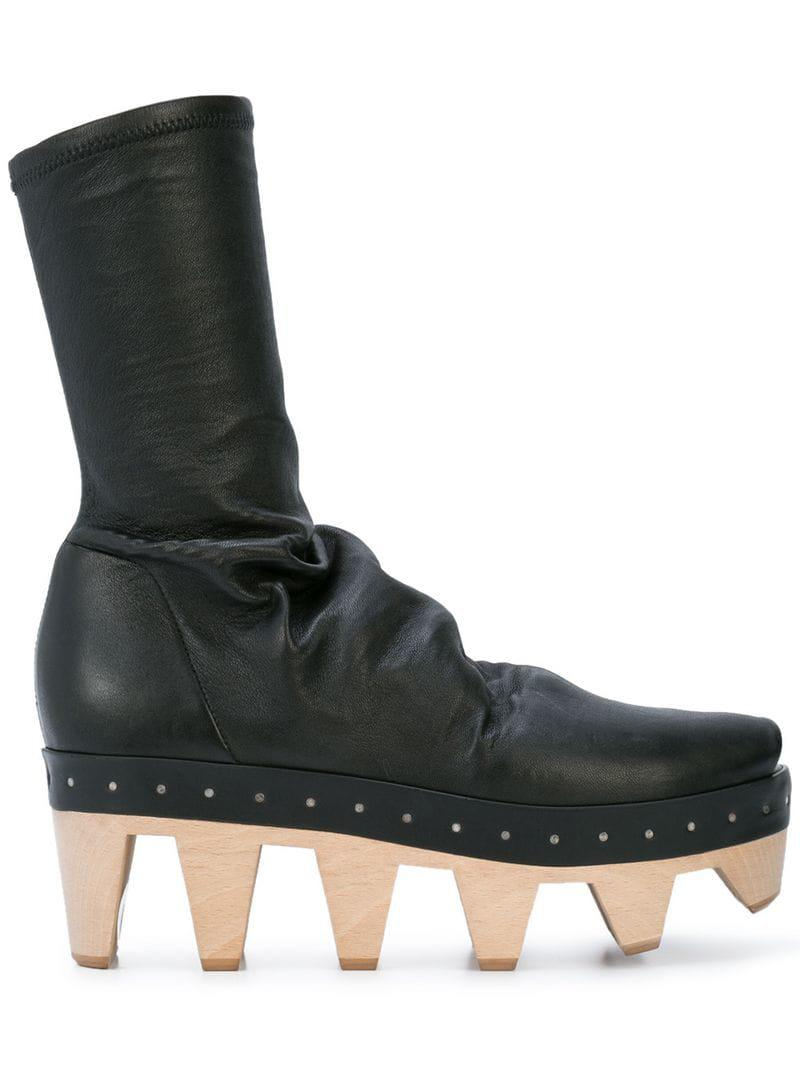 2cc9eea805e6 Lyst - Rick Owens Geta Sock Shoes in Black