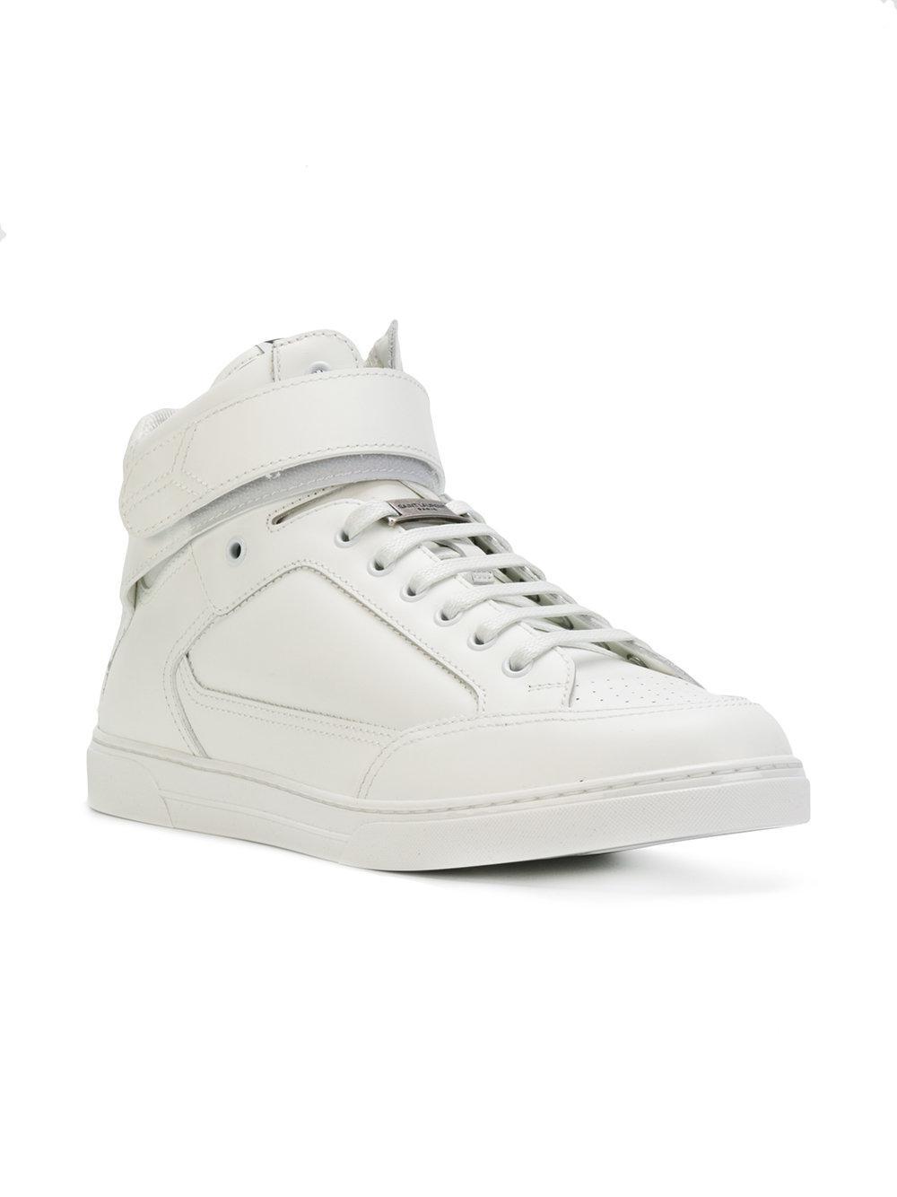 Saint Laurent Joe Scratch High-Top Sneakers CEyY4uR5m0