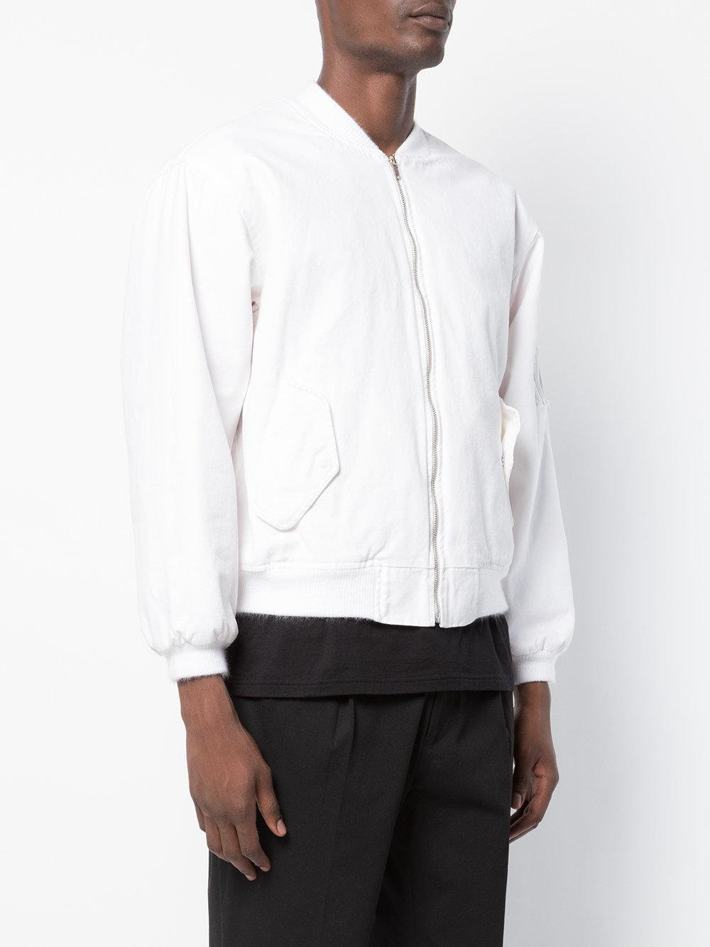 Noon Goons Cotton Bomber Jacket in White for Men