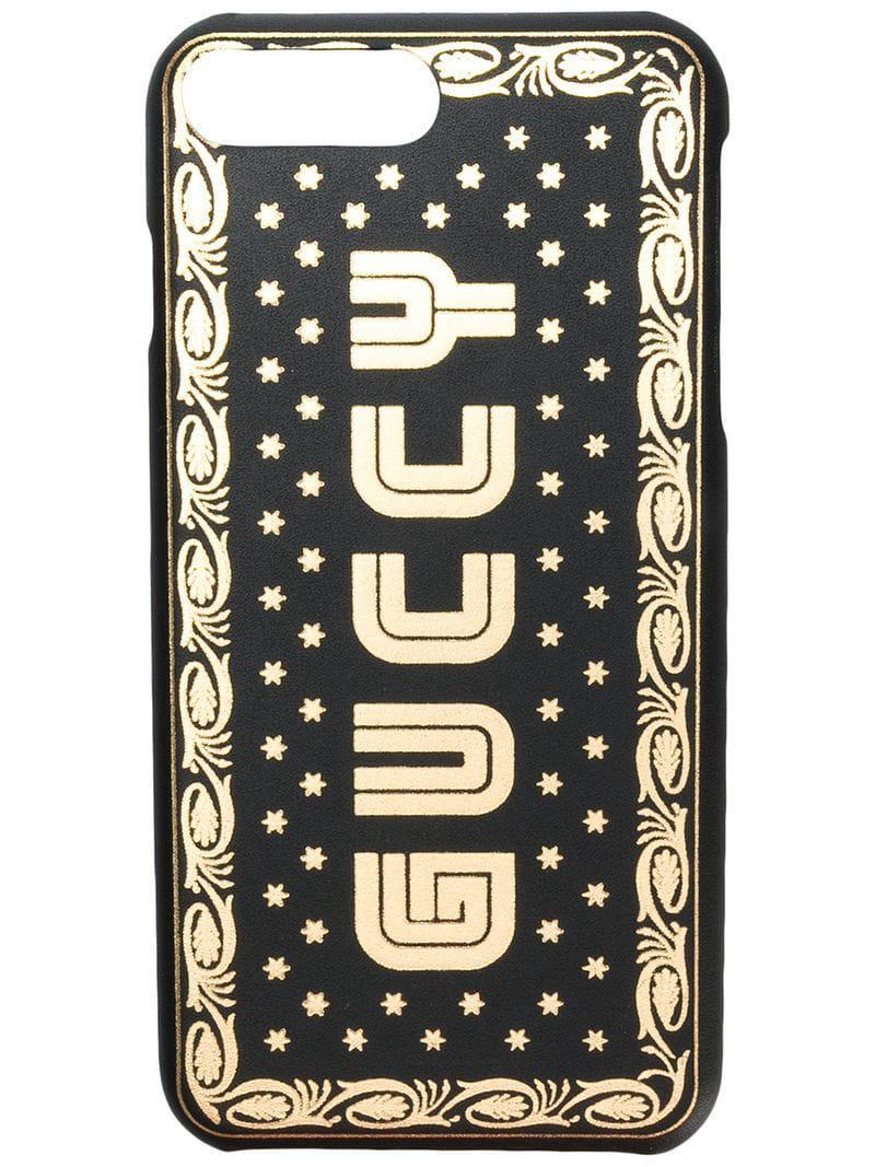 1314958711f Gucci - Black Funda Guccy para iPhone 8 Plus for Men - Lyst. Ver en  pantalla completa