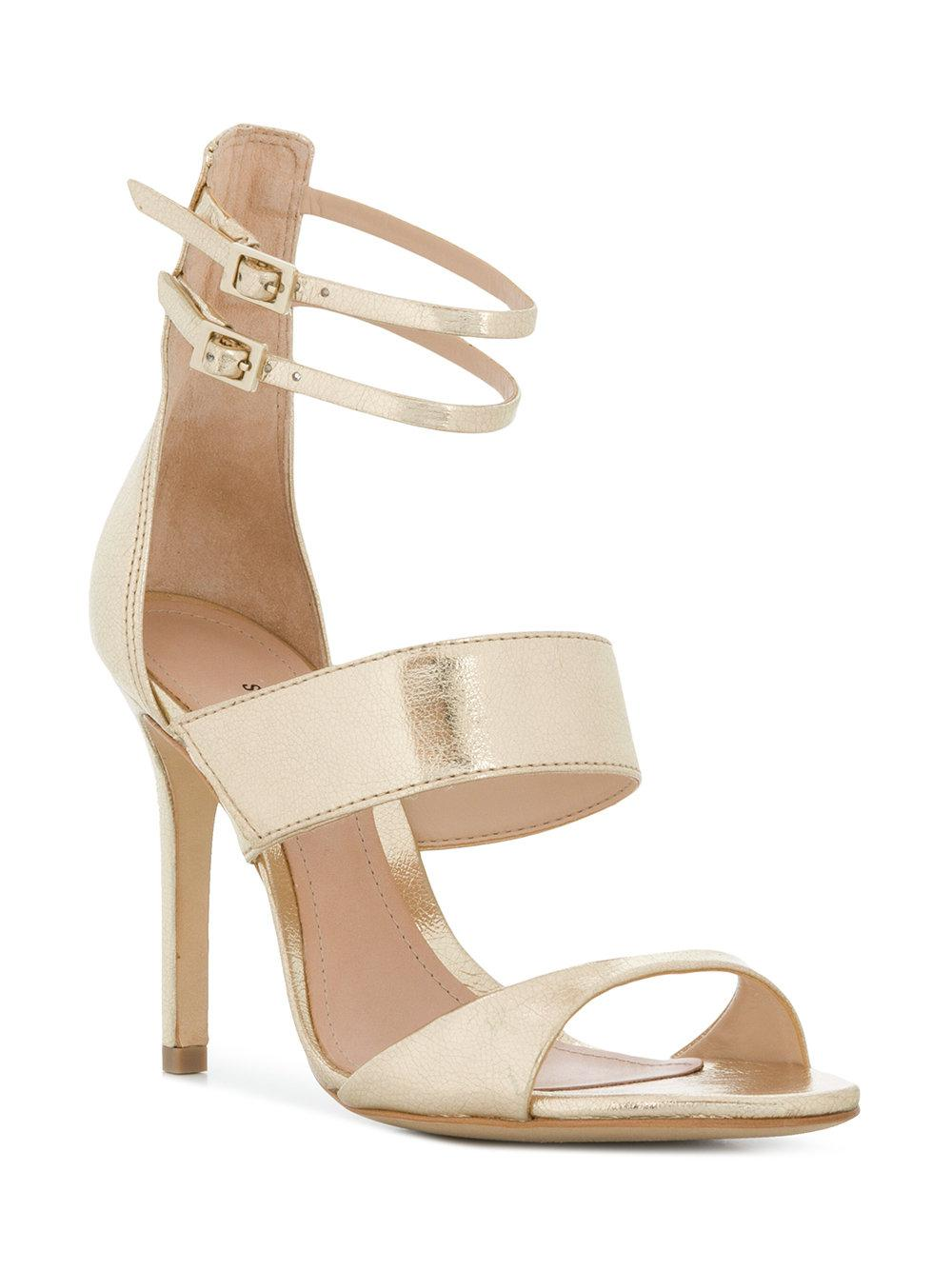 Outlet Sale Online Cheap Price Cost double ankle strap sandals - Metallic Schutz Online Shop Discount Fake Best Cheap Price oX6niW