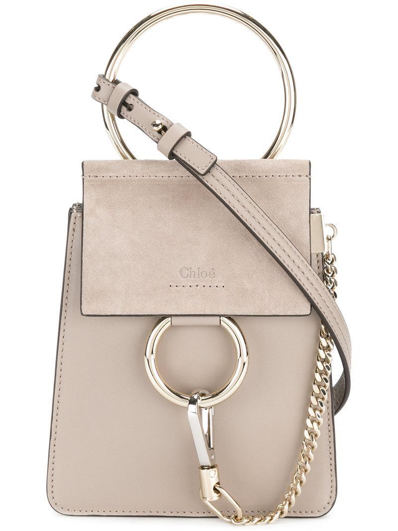 ccd43a10957 Chloé - Gray Small Faye Bracelet Bag - Lyst. View fullscreen