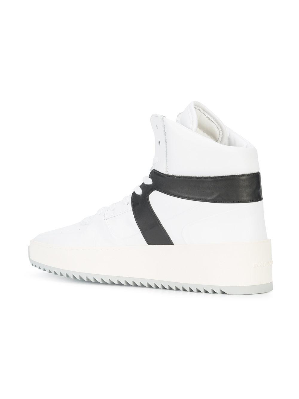 contrast stripe hi-top sneakers - White Fear of God 5yFzIyW