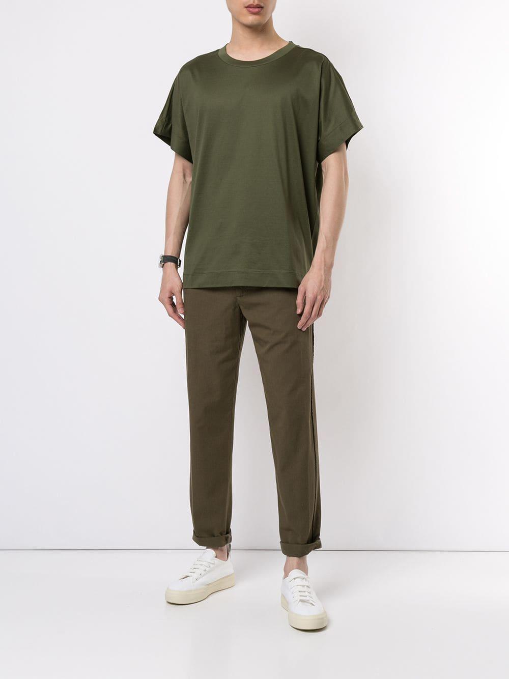 17ea87d9 Lyst - Cerruti 1881 Plain T-shirt in Green for Men