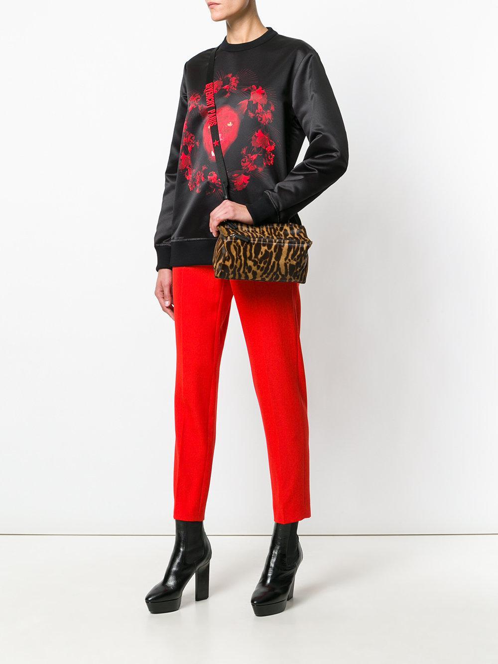 Lyst - Givenchy Leopard Print Pandora Mini Bag in Brown e85bce9d2daf3
