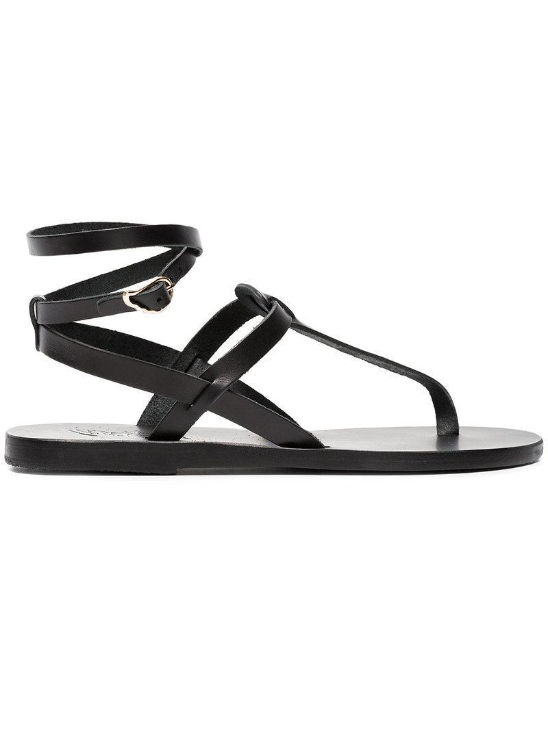 studded T-bar Estia sandals - Black Ancient Greek Sandals Zle5TbnL75