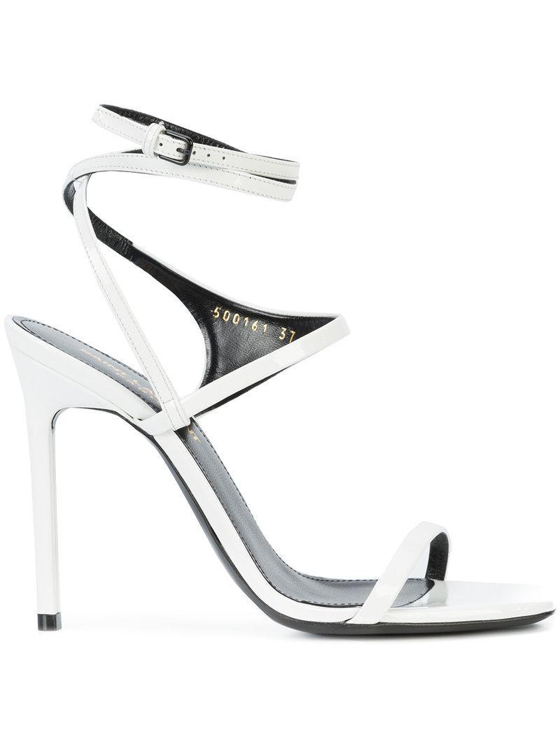 Amber 105 crossover strap sandals - White Saint Laurent vVodfrHrJ6