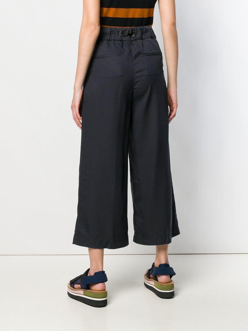 Pantalones capri anchos White Sand de color Azul