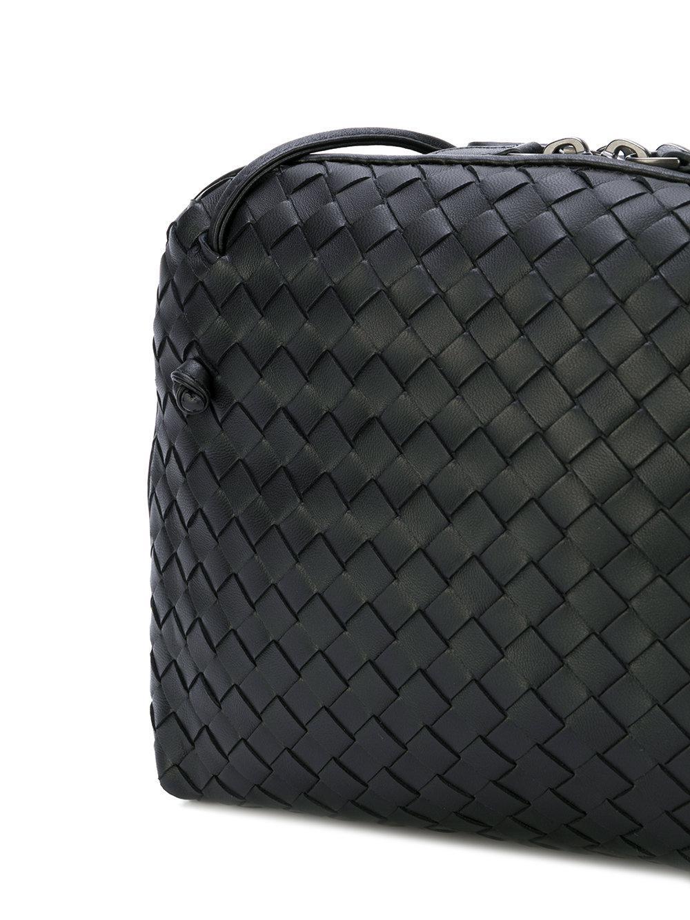 56f68bce2d Bottega Veneta - Black - Textured Crossbody Bag - Women - Leather - One  Size -. View fullscreen
