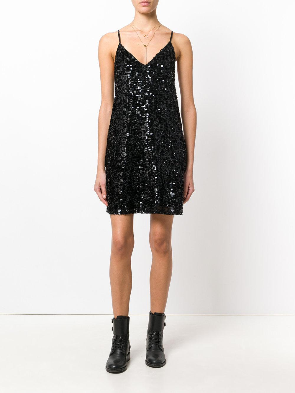 Twin Set Synthetic Sequin Shift Dress In Black Lyst