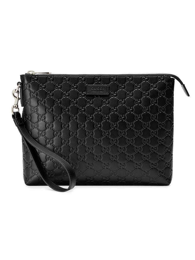 44368544c135bf Gucci Signature Soft Men's Bag in Black for Men - Lyst