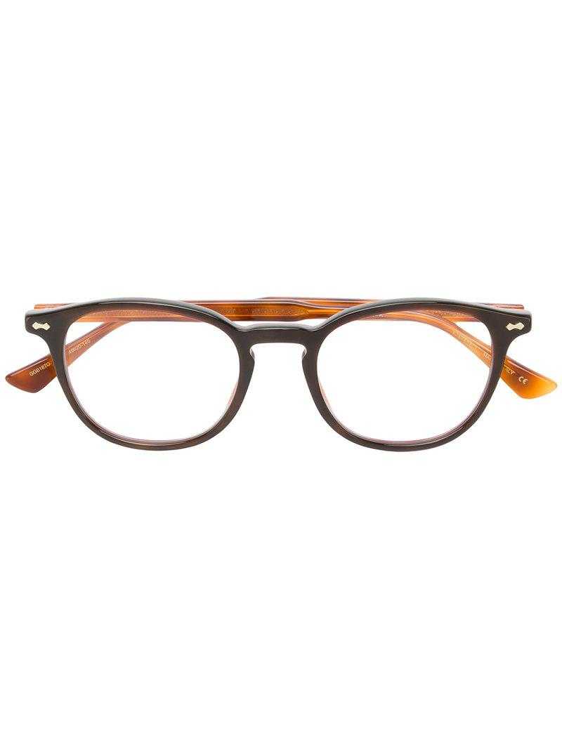 d7b9ddec58 Gucci - Brown Gafas cuadradas for Men - Lyst. Ver en pantalla completa