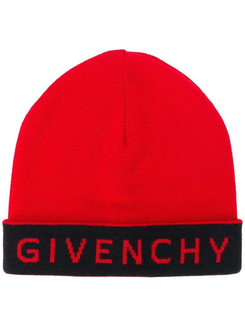 contrast logo beanie hat - Red Givenchy nOEX7j