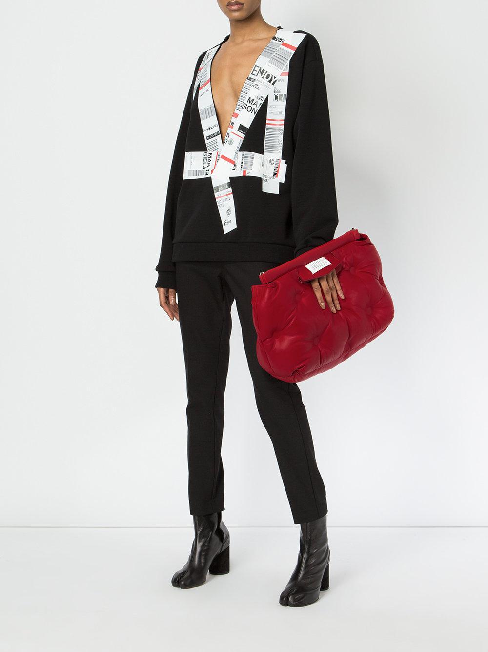 Bag Red Slam In Margiela Shoulder Glam Maison Lyst CqPTXw8U
