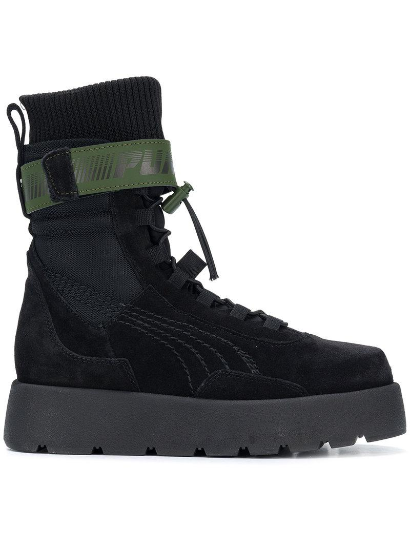 puma black high ankle shoes, OFF 78