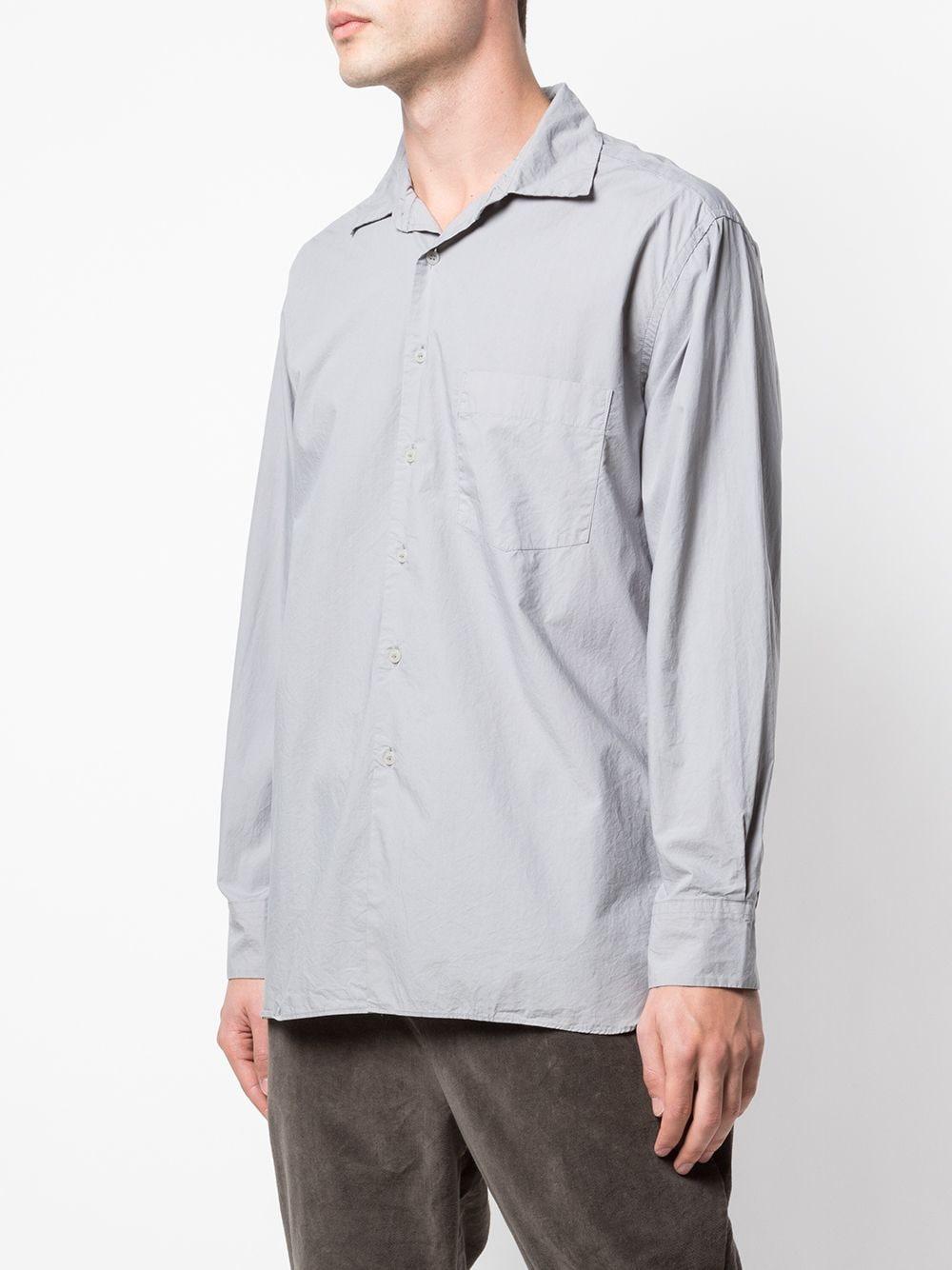 Casey Casey Katoen Overhemd Met Borstzak in het Grijs voor heren