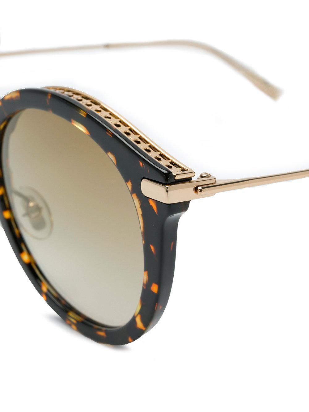 Jimmy Choo Bobby Tortoiseshell Sunglasses in Brown