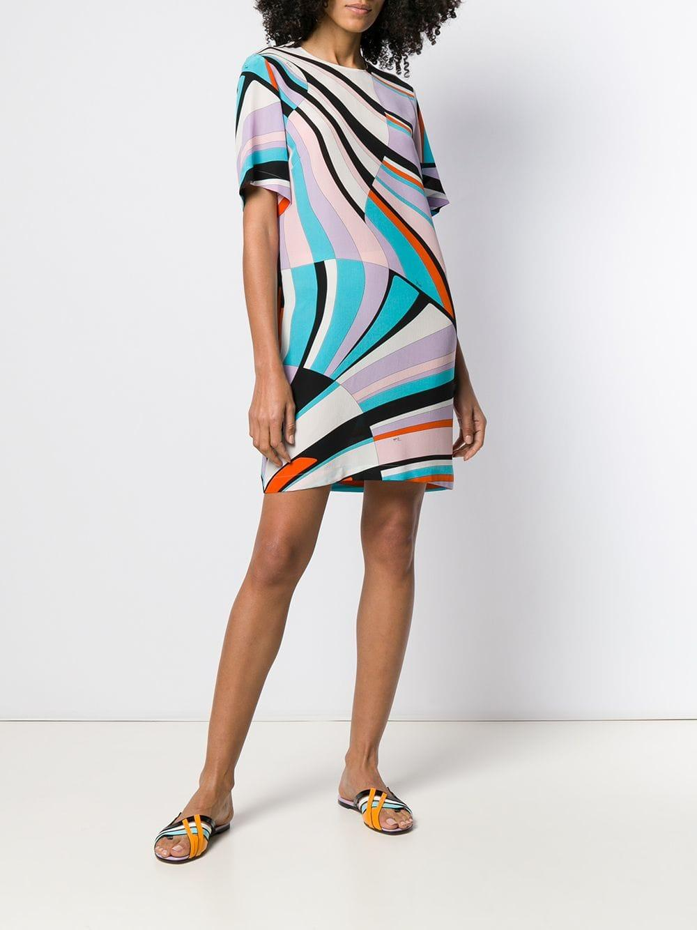 b632f6433137 Emilio Pucci - Purple Shell Print Silk Mini Dress - Lyst. View fullscreen