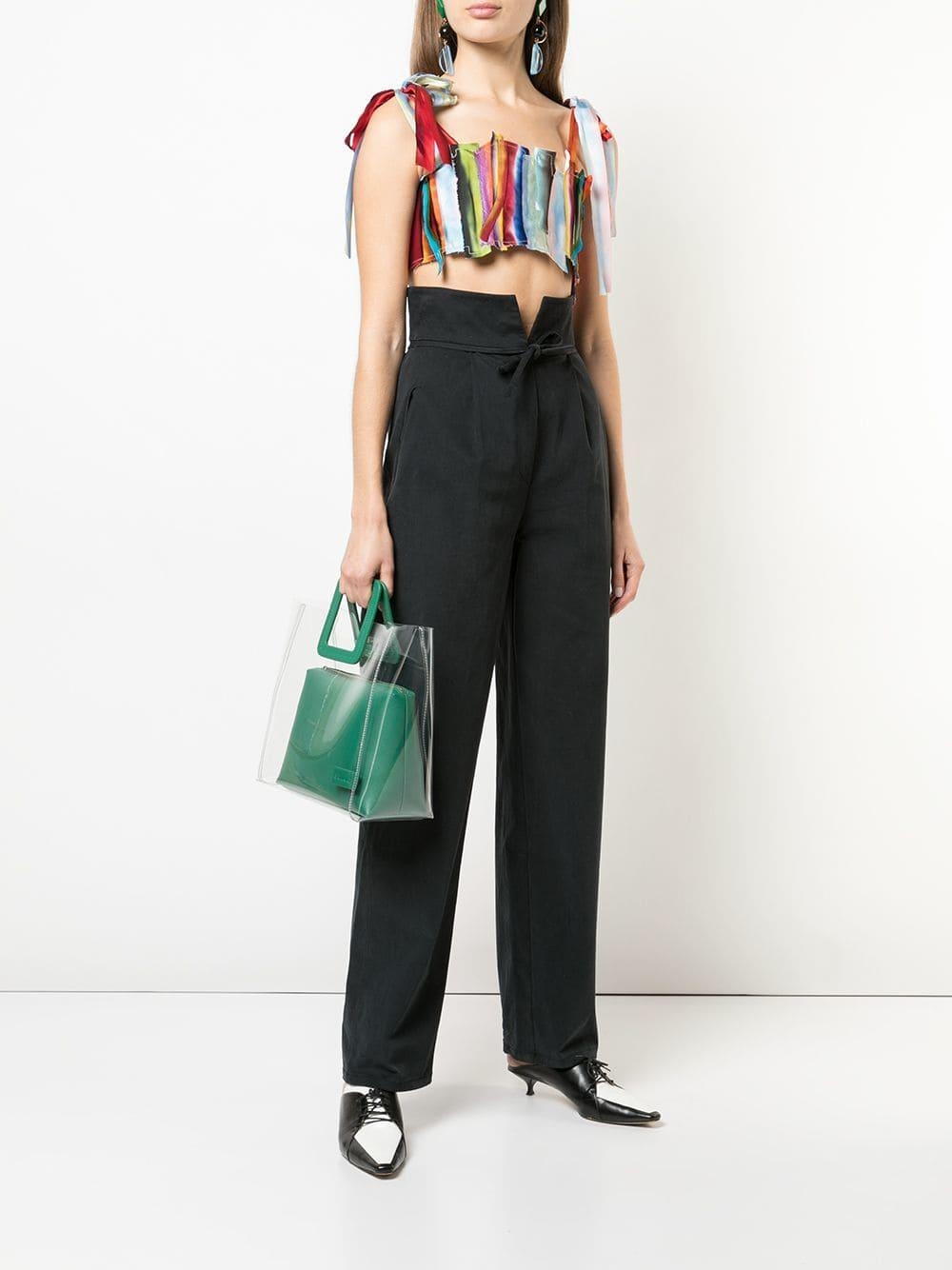 Pantalones de talle alto Rosie Assoulin de color Negro