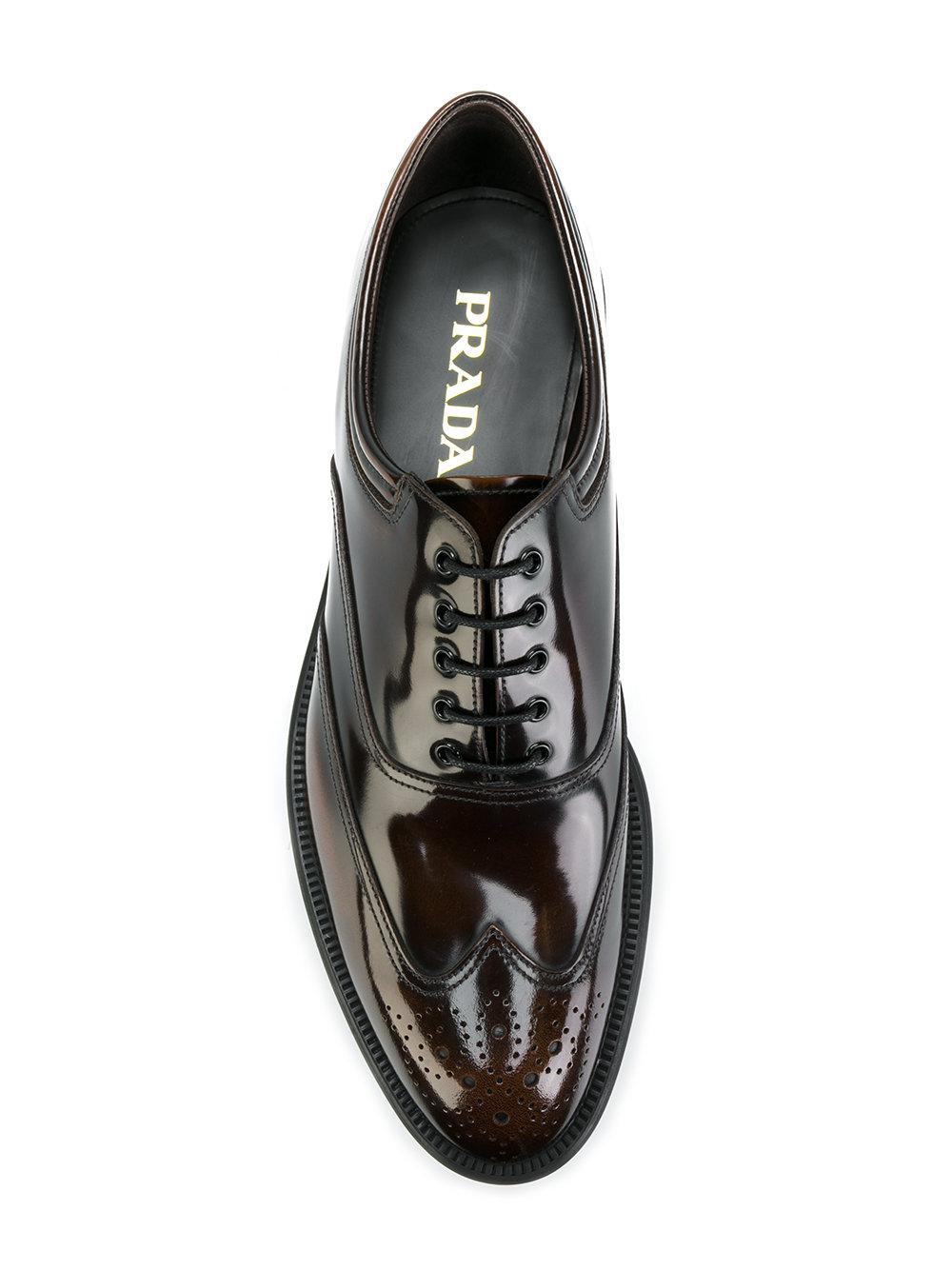Prada 2ec109055 F0038 Leather/fur/exotic Skins->calf Leather in Brown for Men