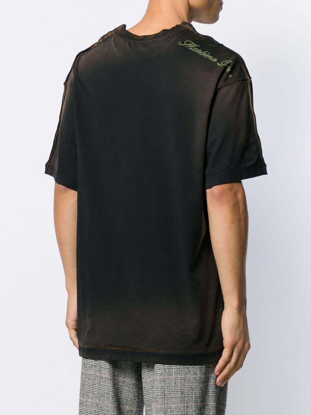 Martine Rose T-shirt Met Logo in het Zwart voor heren