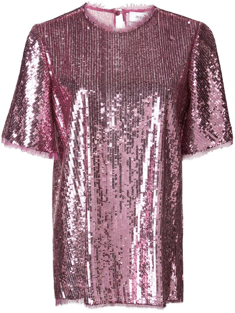Thomson sequined blouse - Pink & Purple Prabal Gurung Best Seller Cheap Online Wholesale Price Cheap Price Cheap Sale Popular H2J6z