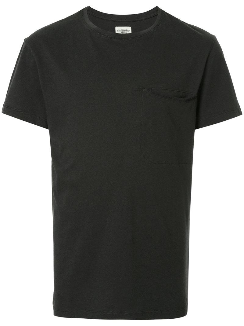 Lyst kent curwen classic fitted t shirt in black for men for Lands end logo shirts