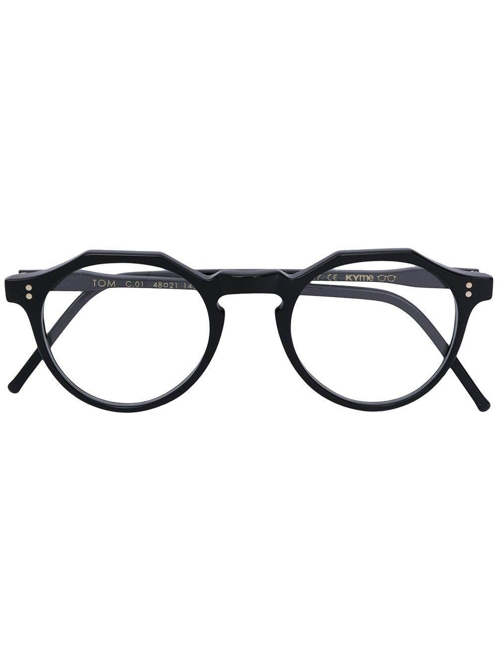 d115cc820b69 Kyme Tom Round Frame Glasses in Black - Lyst