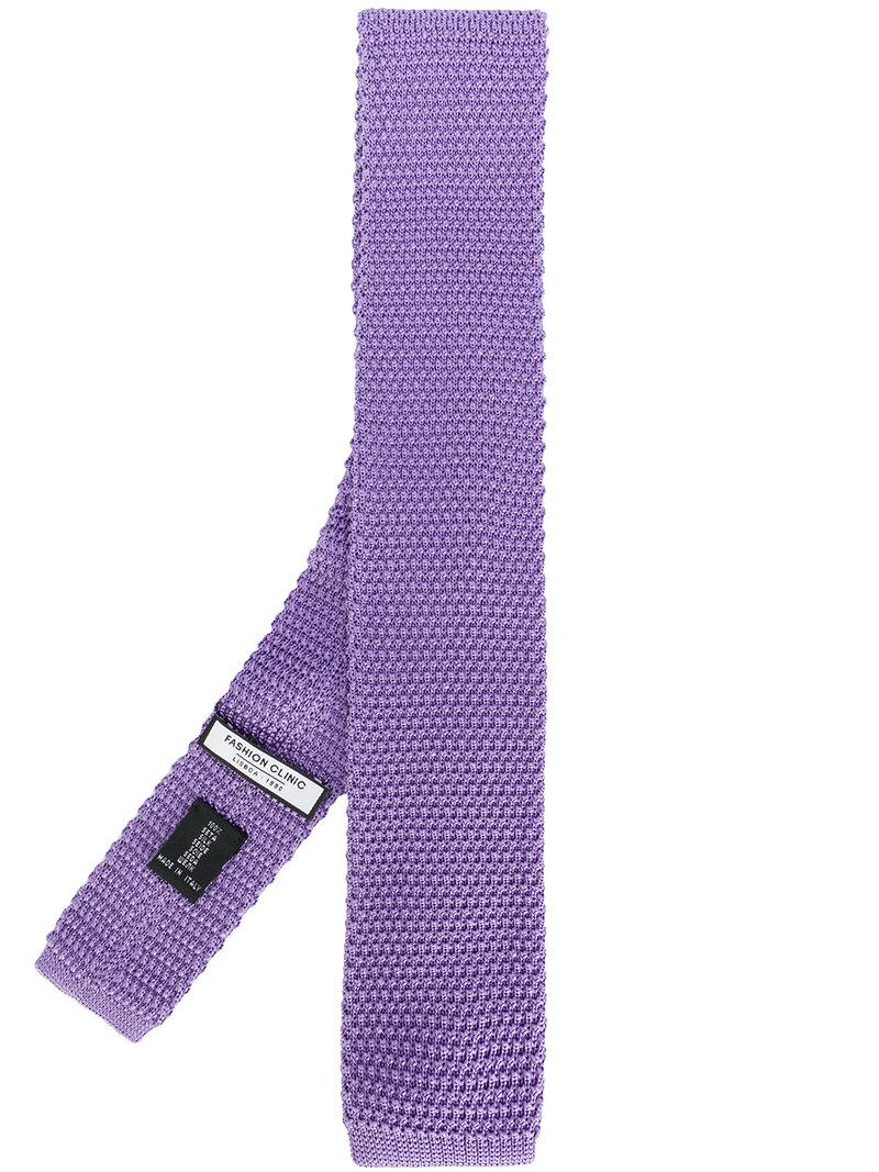 woven square-tip tie - Pink & Purple Fashion Clinic Timeless mQfRGu6v
