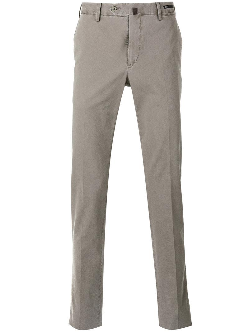 slim fit trousers - Nude & Neutrals PT01