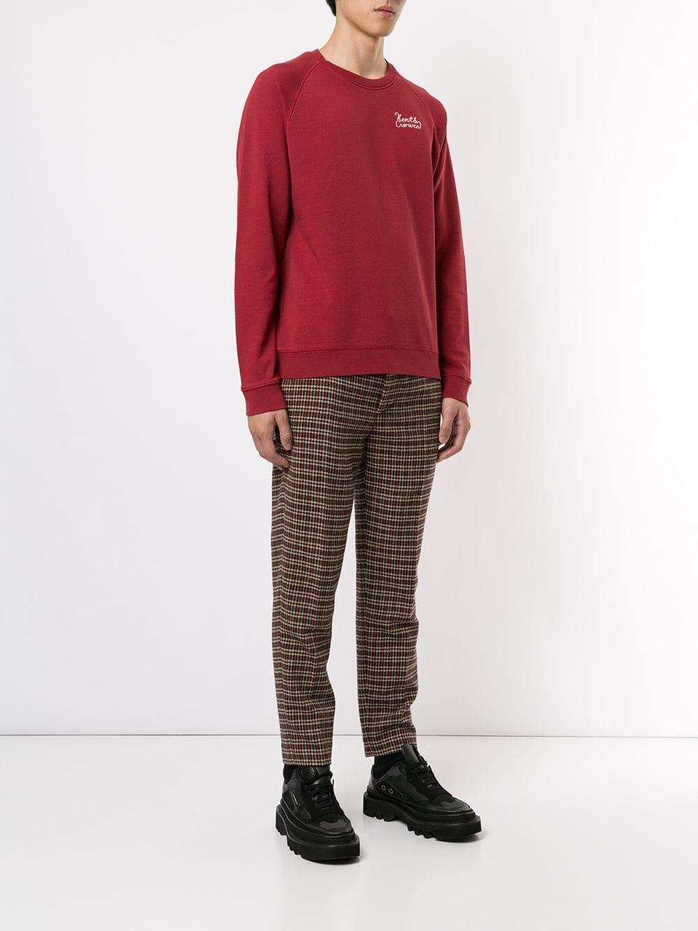 Kent & Curwen Katoen Sweater Met Logo in het Rood voor heren