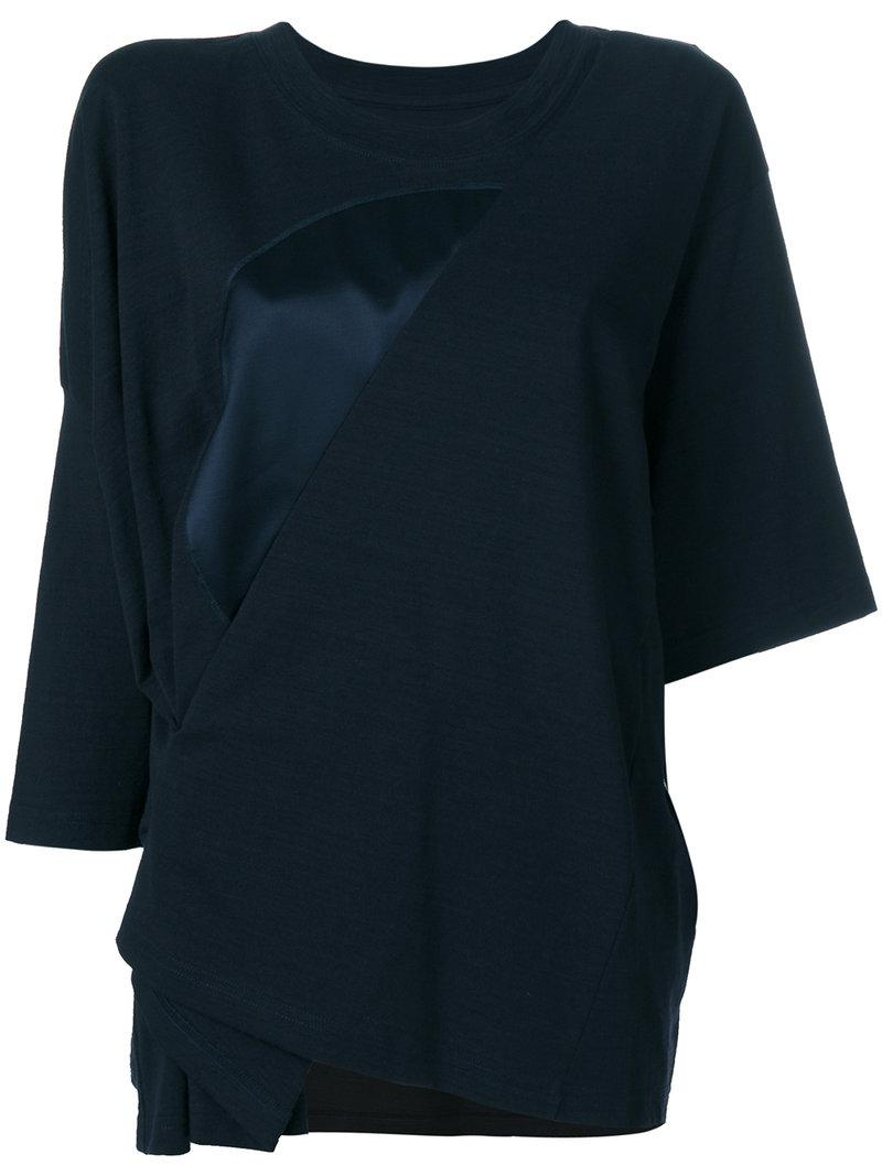 Navy Asymmetric Blouse Maison Martin Margiela Best For Sale Low Shipping Cheap Online Buy Cheap Wholesale Price Limited Edition Online Cheap Very Cheap lkOMHf