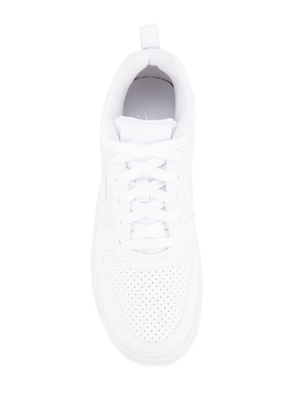Nike Leather Court Borough Low Sneakers in White