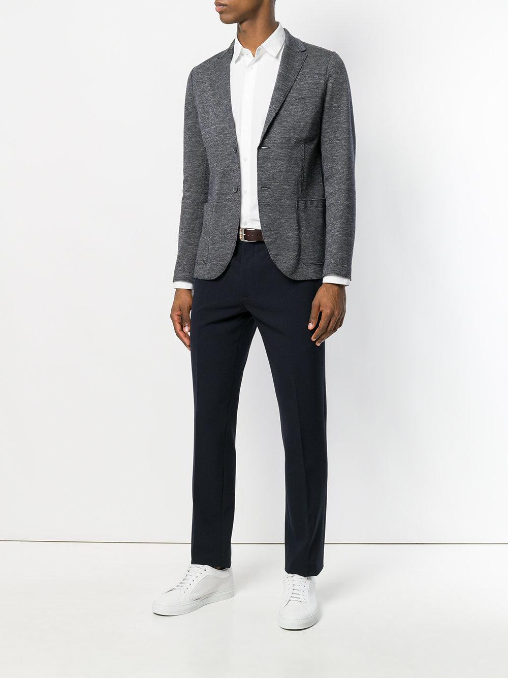 Harris Wharf London Cotton Classic Blazer in Blue for Men