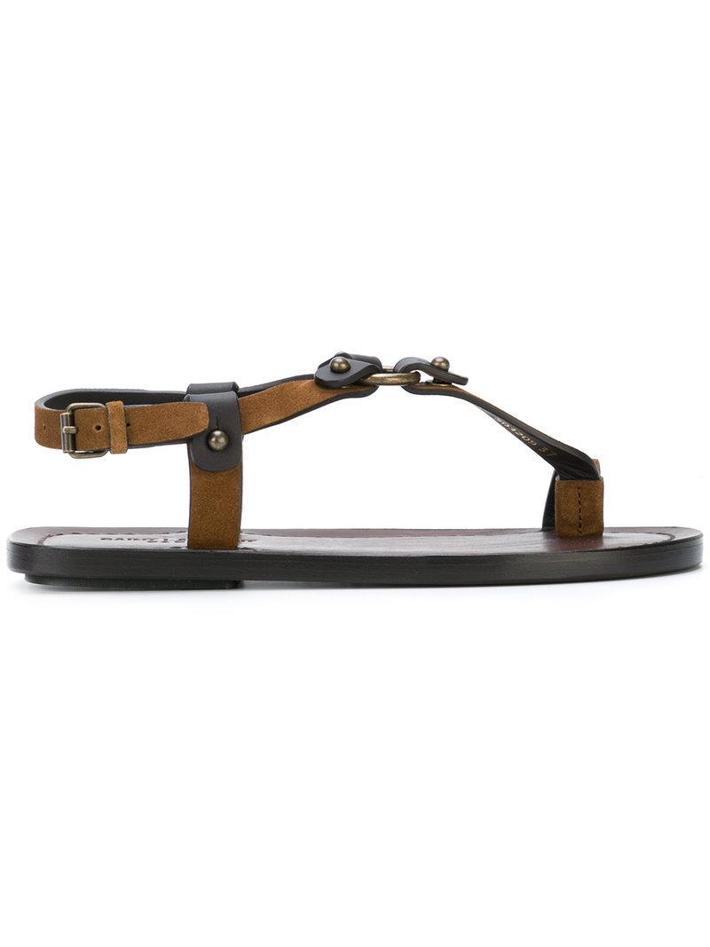 open toe buckle sandals - Brown Saint Laurent z3j1o0m