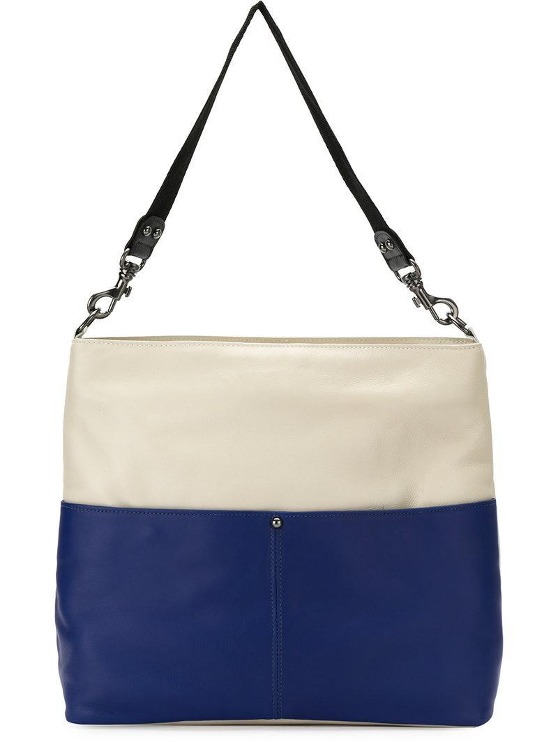 leather tote bag - Blue Mara Mac TIAEwfYwx