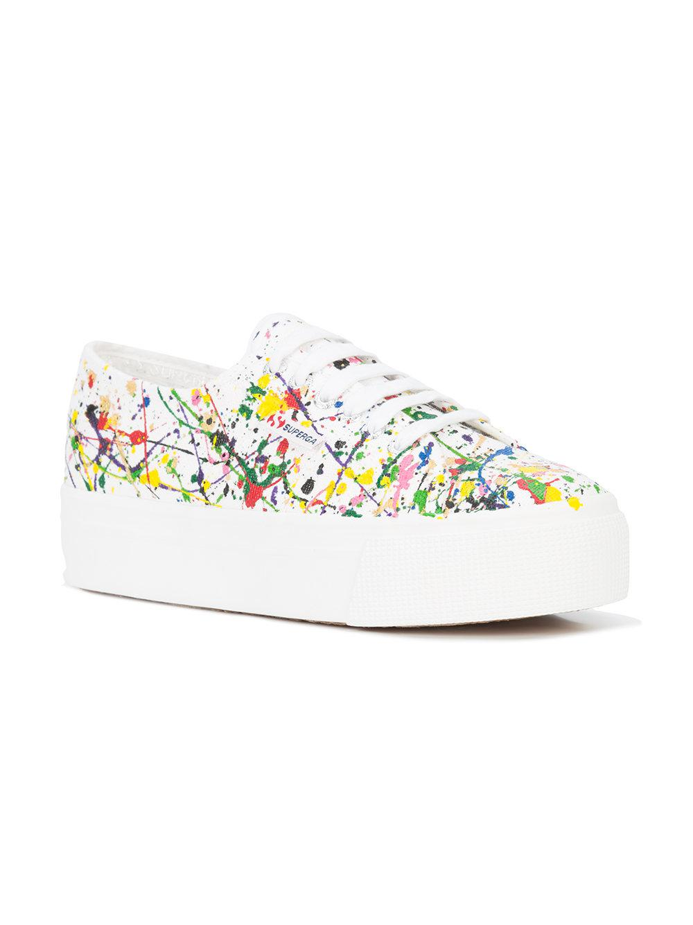 Superga Canvas Splatter Sneakers