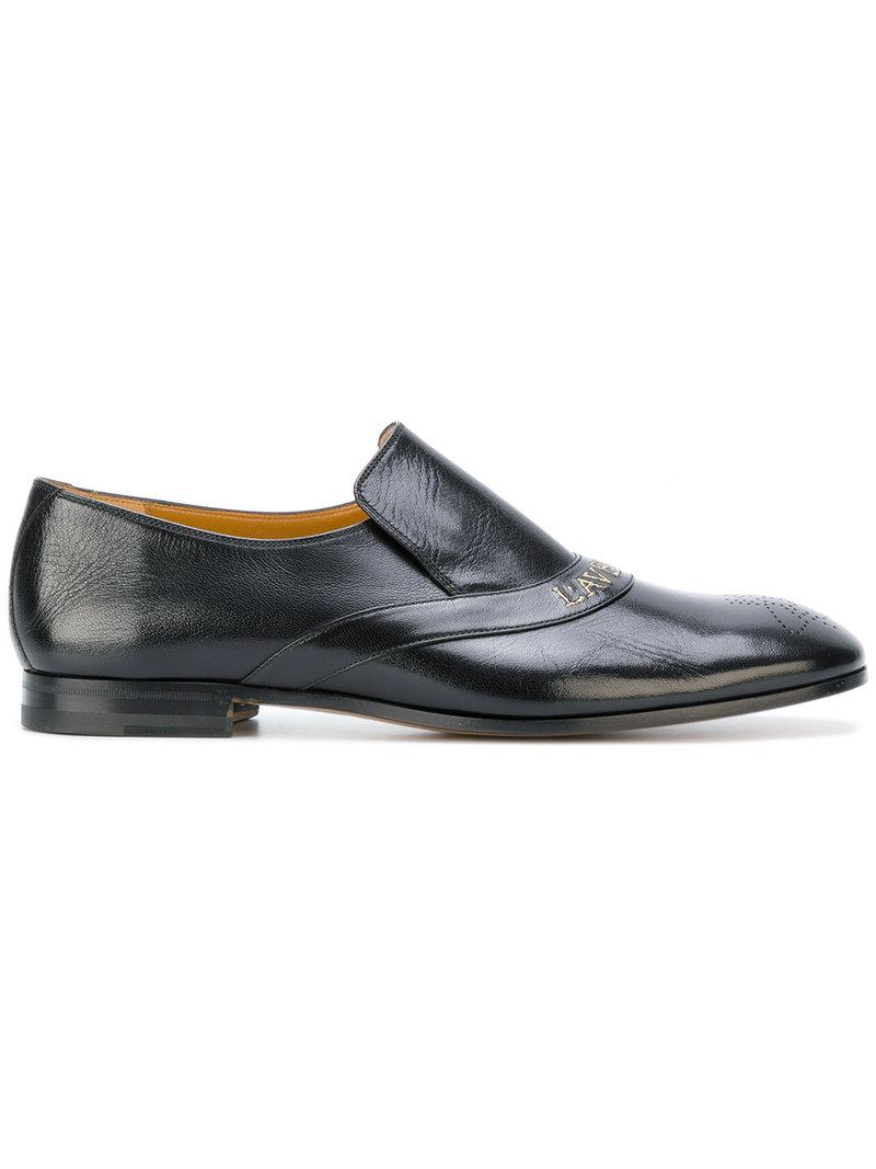 60bf0dce731 Gucci Embroidered Loafers in Black for Men - Lyst
