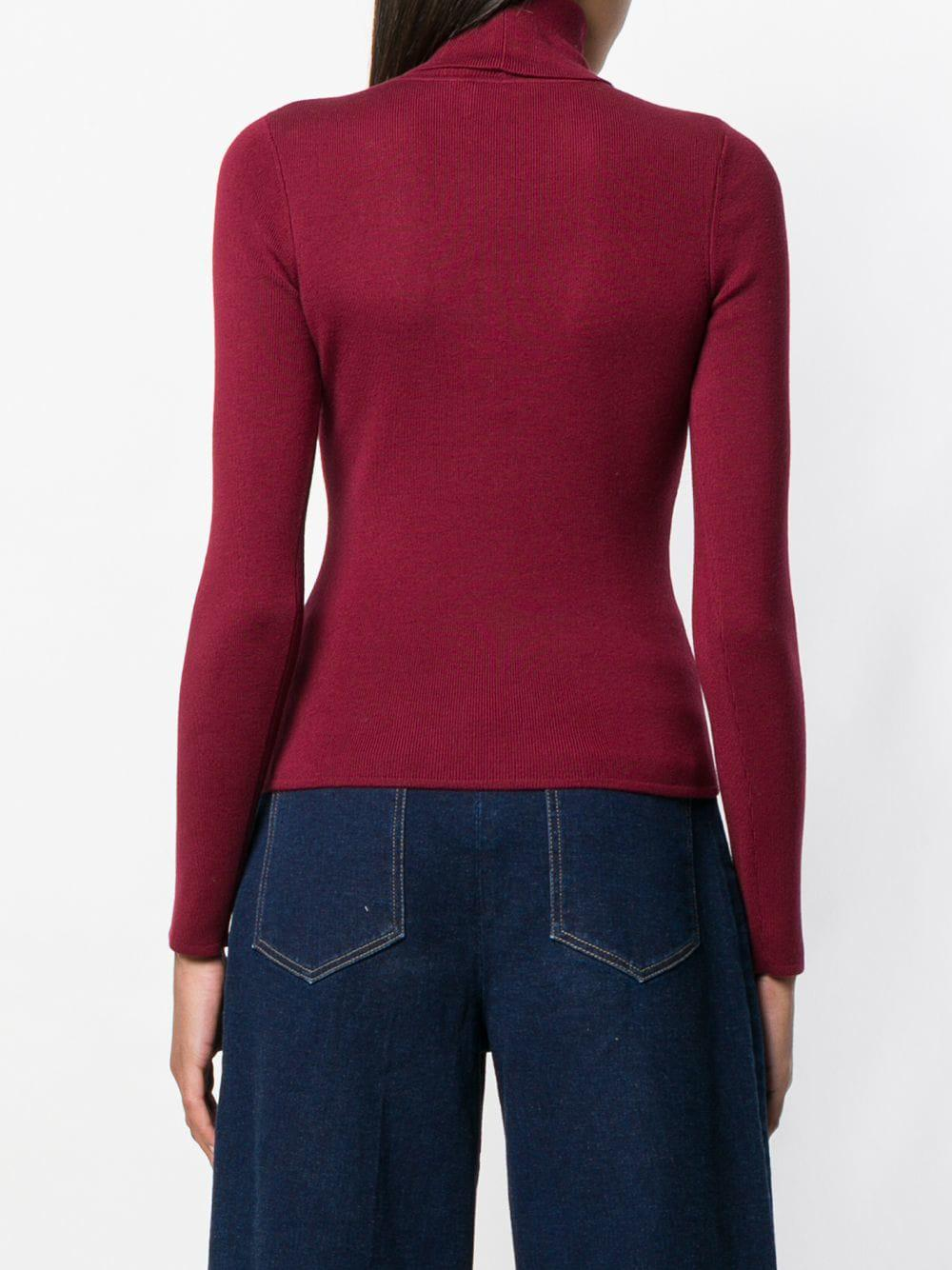 Red Jumper See Chloé Uzweqncx Fullscreen Lyst View Neck By Roll BwqC7SB