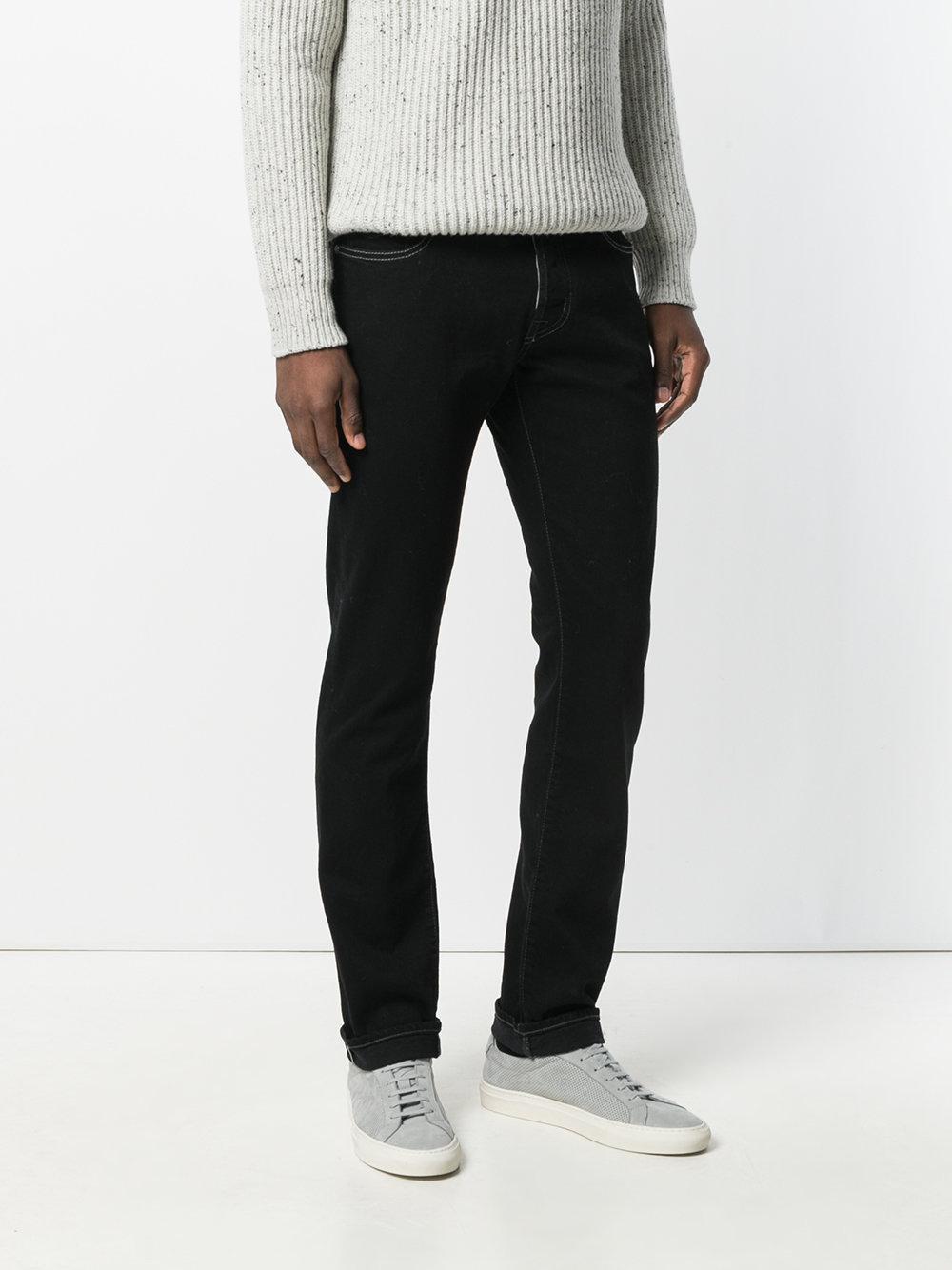 Jacob Cohen Straight-leg Denim Jeans in Black for Men