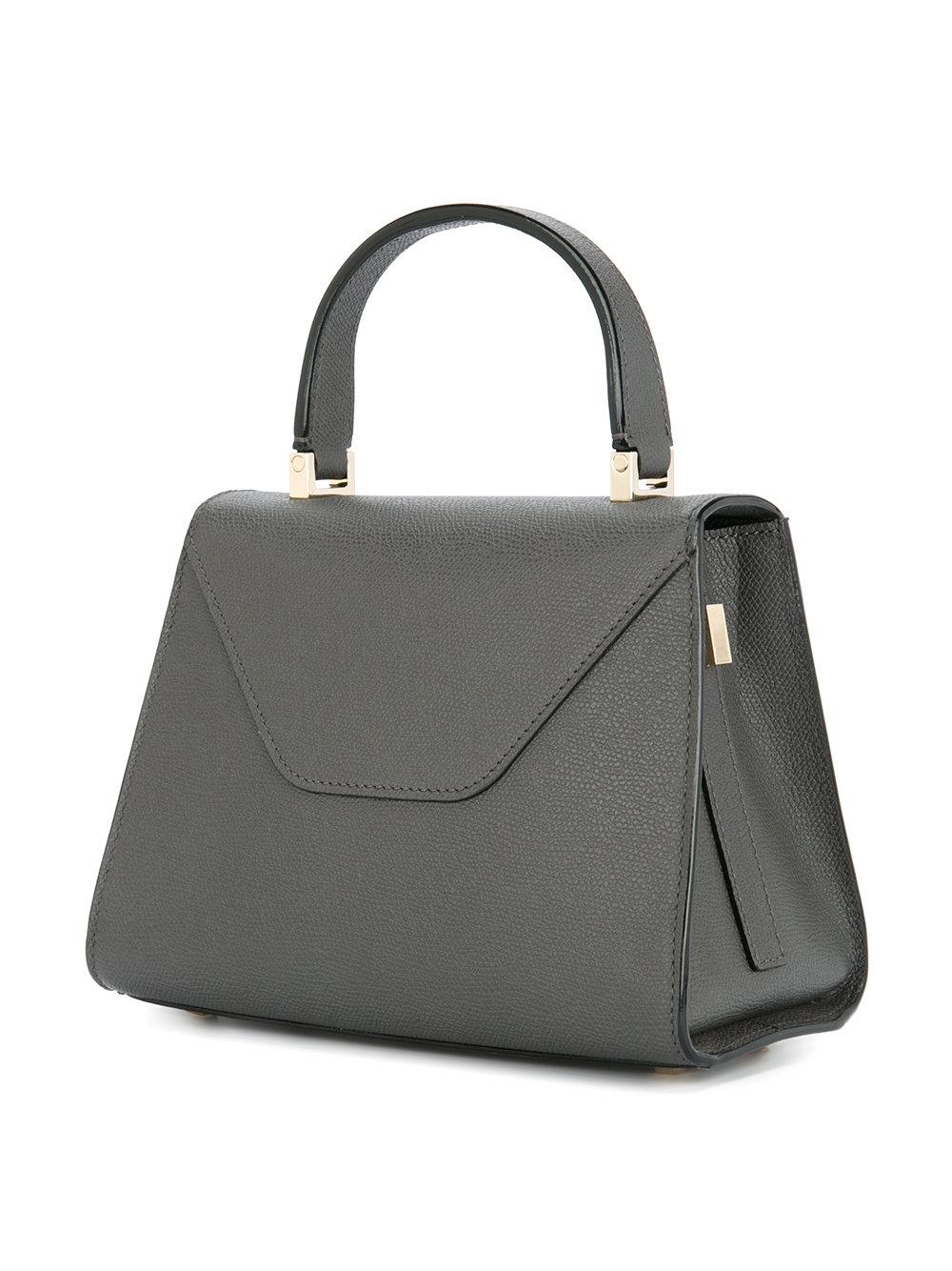 Valextra Leather Small Iside Tote Bag in Grey (Grey)
