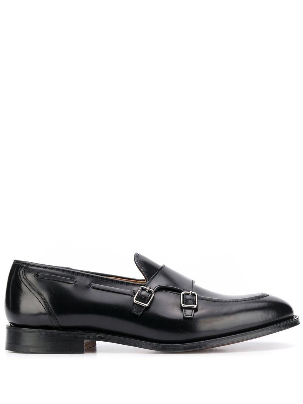 Church's Leer Clatford Loafers Met Dubbele Gesp in het Zwart voor heren - Bespaar 28%