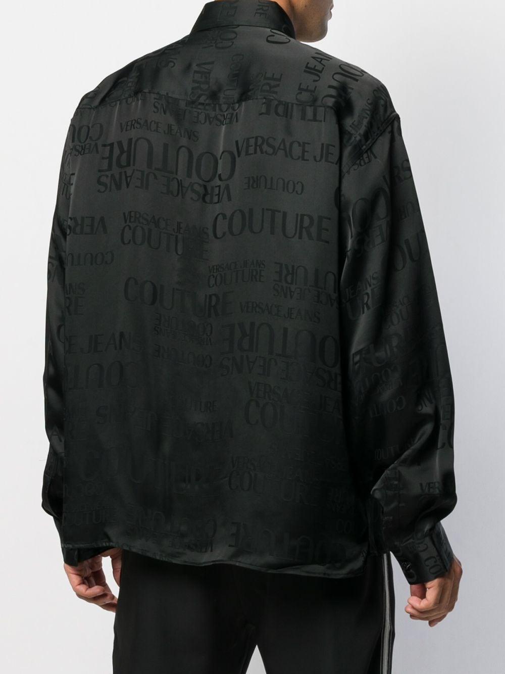 Versace Jeans Couture Denim Overhemd Met All-over Print in het Zwart voor heren