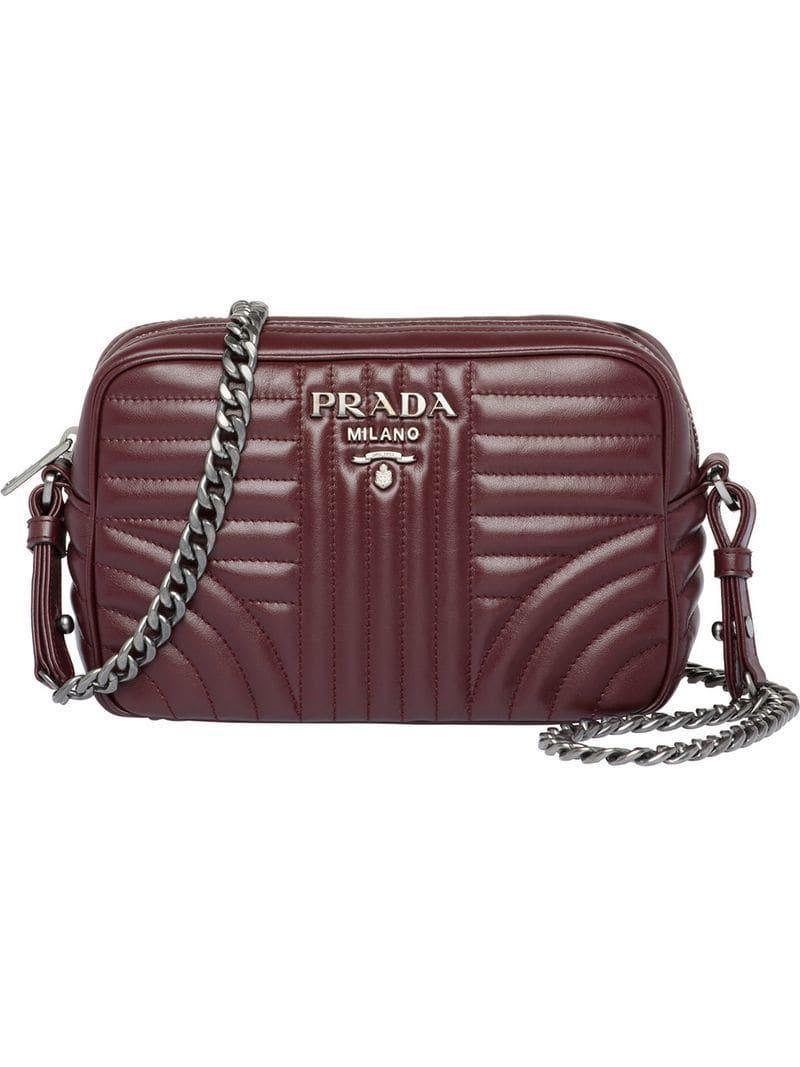 85f5985715dd6d Lyst - Prada Diagramme Crossbody Bag - Save 11.200000000000003%