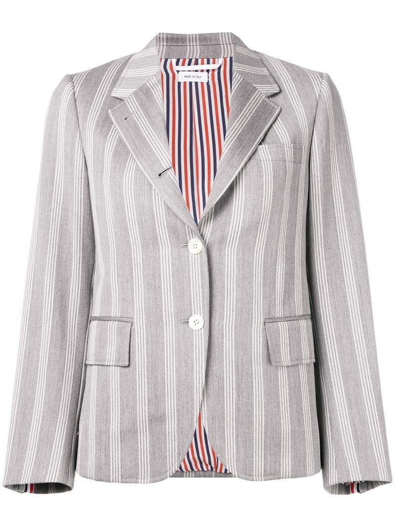 365ed45712d Lyst - Thom Browne Repp Stripe Narrow Sport Coat in Gray