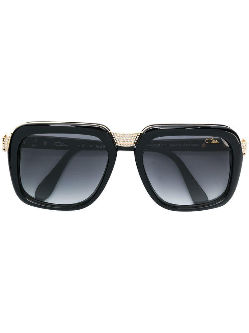 2f5139ba3ca28b Cazal Embellished Oversized Sunglasses in Black for Men - Lyst